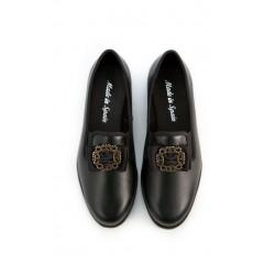 Zapato Hebilla Oro Viejo